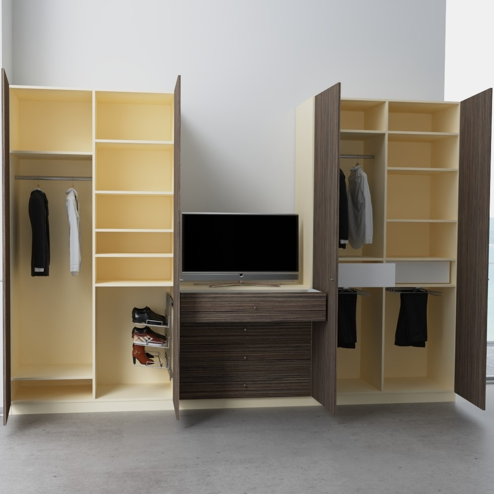 schlafzimmerschrank mit verschiedenen h hen nach ma planen. Black Bedroom Furniture Sets. Home Design Ideas