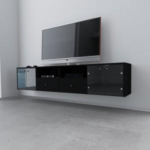 "TV Bank Schwarz Modell ""Senta"""