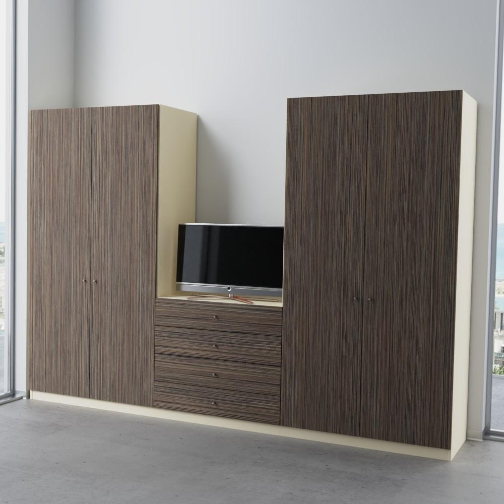 schlafzimmerschrank mit verschiedenen h hen nach ma. Black Bedroom Furniture Sets. Home Design Ideas