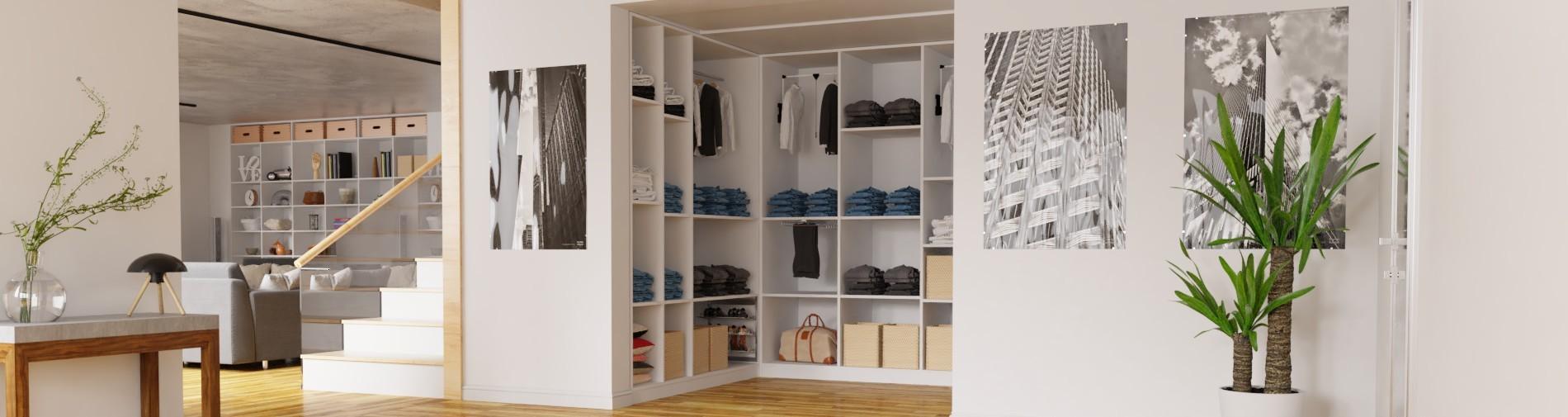 Begehbarer Kleiderschrank maßgefertigt