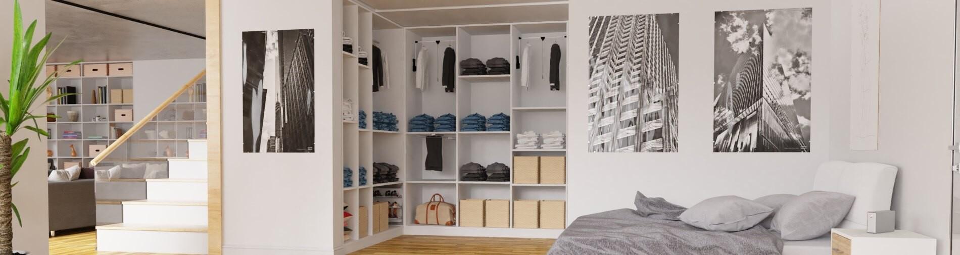 Schlafzimmer begehbarer Schrank maßgefertigt
